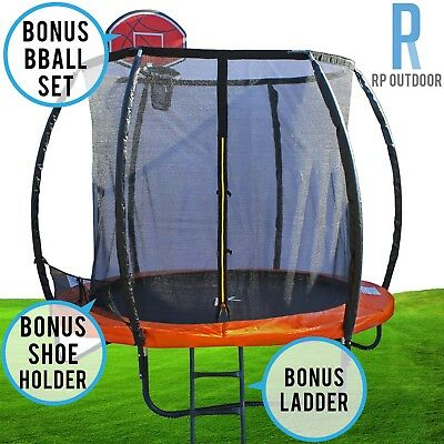 AU400 • Buy Trampoline Free Ladder Spring Mat Net Safety Pad Cover Round Enclosure 8ft-16ft