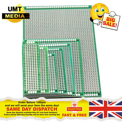 £1.20 • Buy Double Sided Prototyping Circuit Board FR4 Printed Prototype PCB Arduino PI