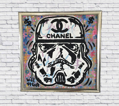 $450 • Buy CHANEL STORM TROOPER Stretched On Canvas Andy Warhol Kaws