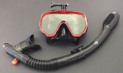 AU39.95 • Buy New Snorkelling Diving Liquid Silicone Set WIL-DS-32R With GoPro Mask