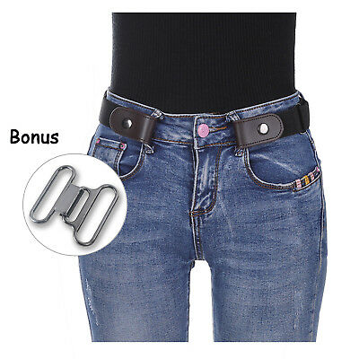 $3.41 • Buy Fashion Women Buckle-free Elastic Invisible Waist Belt For Jeans No Bulge Hassle