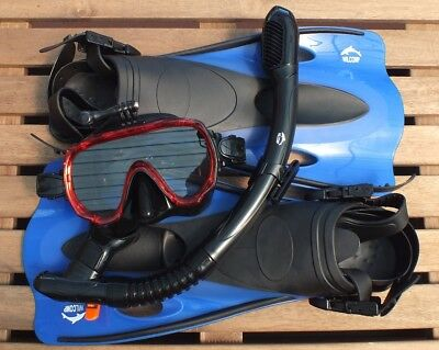AU56.95 • Buy GoPro Snorkelling Diving Set WIL-SS-32R With GoPro Mask - Dry Snorkel - Fins