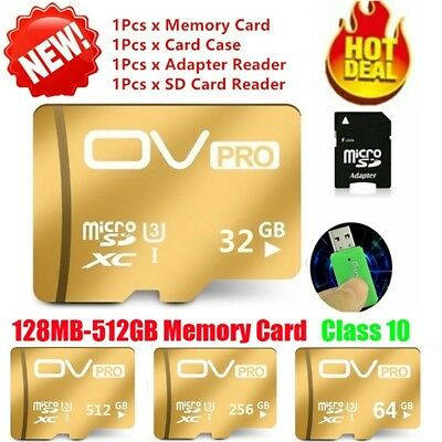$16.80 • Buy 8-512GB Micro SD Card TF Speed Flash Memory Card Class10 For MP4 Phone Camera