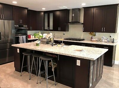 $2595.39 • Buy 10'x10' Espresso Shaker Solid Wood Kitchen Cabinets-5/8  Plywood Box -Soft Close