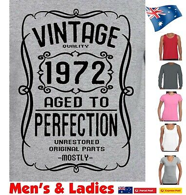 AU22.95 • Buy 50th Birthday T Shirt For 1971 Funny T Shirts Vintage Present Gift Size New Tee