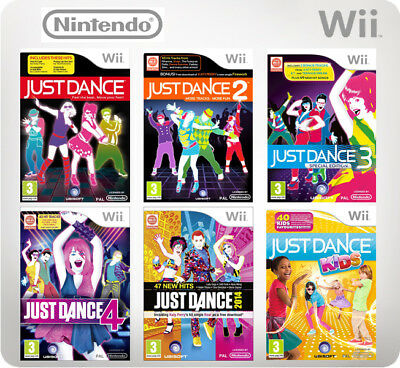 Just Dance 1, 2, 3, 4, - 2017, Kids Nintendo Wii Game *in Good Condition* • 15.45£