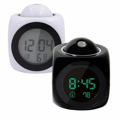 £15.95 • Buy LED Projection Bedroom Alarm Clock LCD Screen Wall Digital Easy Time Wake Desk
