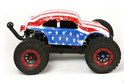 Custom Buggy Body American Flag For 1/8 RC Truck Thunder Tiger MT4 G3 HPI Savage • 21.44£
