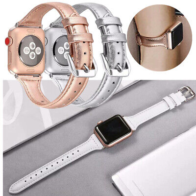 $ CDN17.24 • Buy For Apple Watch Series 654 3 2 1 Genuine Leather Wrist Band Straps 38/42/40/44mm