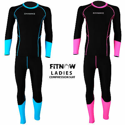 Ladies Compression Suit Thermal Base Layer Tights Shirt Under Long Pant  • 17.99£
