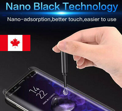 $ CDN15.99 • Buy UV Tempered Glass Screen Protector Samsung Galaxy S6 S7 Edge S8 S9+ Note 8 9 S10