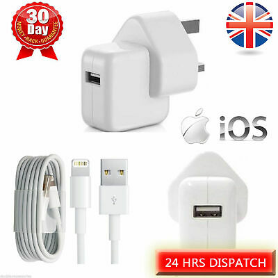 10w Plug Mains Charger SYNC LEAD Cable For IPhone 5 8 SE X 11 XR IPad Mini Ipod • 7.99£