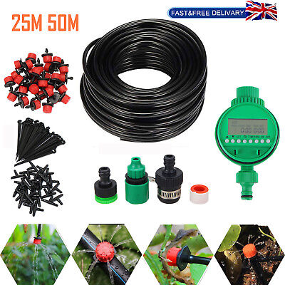 DIY Micro Drip Irrigation Auto Timer Self Plant Watering System Automatic Kit • 14.19£
