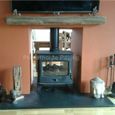Fireplace Hearth | LARGE Hearths 1.5m Wide | 3 Depths | Natural Black Limestone • 195£