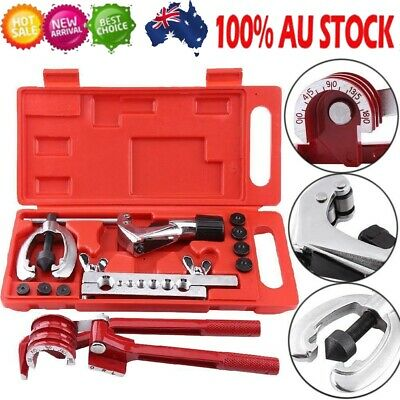 AU32.89 • Buy 11pc 7 Dies Double Flaring Tube Expander Flare Tool Kit Brake Air Con Coil Set