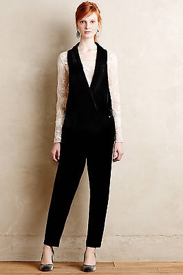 $79.99 • Buy NWT Anthropologie Velvet Tuxedo Jumpsuit Size S By Harlyn