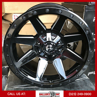 $2200 • Buy 20x10 FUEL WILDCAT Gloss Black And Milled Finish ON 33/12.50r20 M/T Offroad