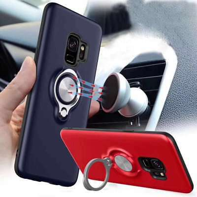 $ CDN8.42 • Buy Samsung S9 S8  IPhone X/Xs Max Magnetic Ring Kick Stand Case TPU Shockproof
