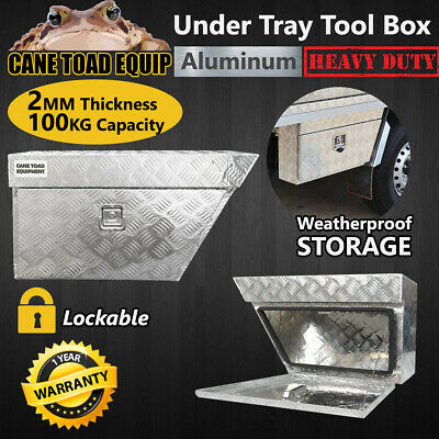 AU162.95 • Buy Ute Tool Boxes Pair Under Tray Aluminium Heavy Duty Vehicle Chest Storage W Lock