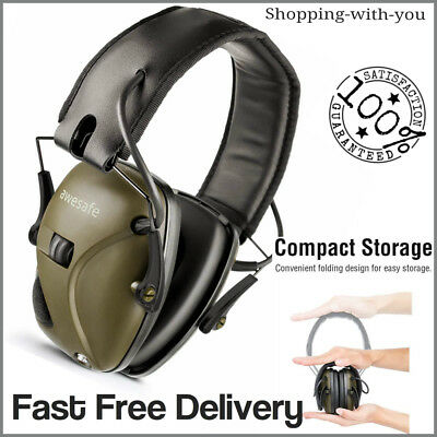 £46.99 • Buy Green Electronic Ear Defenders Comfort Sport Safe Shooting Earmuffs Protection