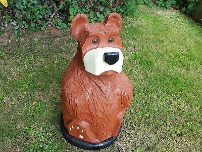 Bear Sitting Chainsaw Carving Sculpture Wood Wooden Garden Ornament  • 180£