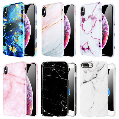 AU7.79 • Buy For IPhone XS MAX XR X 7 8 6s Plus Marble Pattern Soft TPU Shockproof Case Cover