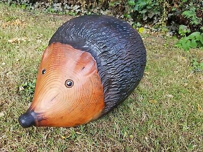 Hedgehog Chainsaw Carving Sculpture Wood Wooden Garden Ornament  • 90£