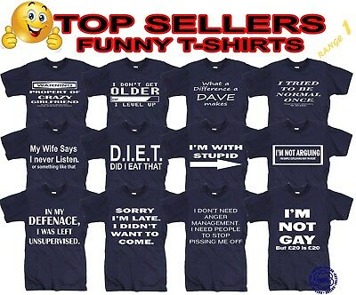 Funny Mens T-Shirts Novelty T Shirt Joke T-shirt Birthday Gift Tee Shirt Party  • 6.85£