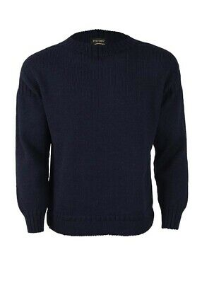 Traditional British Wool Guernsey - Small - Navy • 24.99£