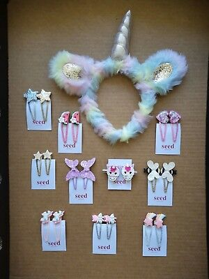 AU14.30 • Buy 2 Pack SEED HERITAGE Girls Hair Clips Snaps Accessories (Combined Postage)