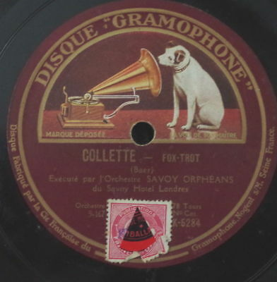 ORCHESTRE SAVOY ORPHEANS COLLETTE SHELLAC 10  78rpm GRAMOPHONE • 8.57£