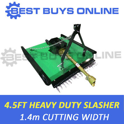 AU2149 • Buy 4 Ft 6  Tractor Slasher Heavy Duty 10mm Skids 5mm Deck 3PL CAT1,2 BestBuysOnline