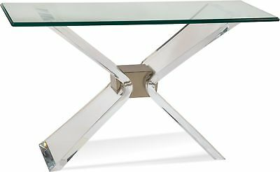 $1798 • Buy Bassett Mirror Silven Console Table In Acrylic/Brushed Nickel 2999-400B-TEC