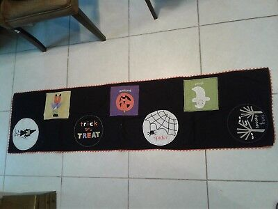 $12.99 • Buy Rare Spooky Ghosts Happy Halloween Party Banner Table Runner 66x17