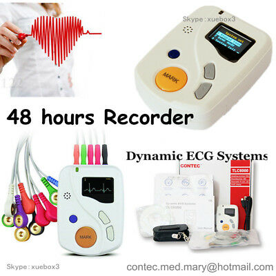 £384 • Buy CE ,48 Hours Dynamic ECG Holter 12 Channel EKG Machine USB Software OLED NEW Hot