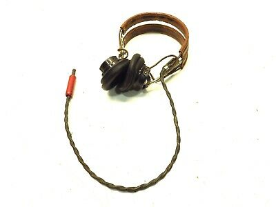 $142.99 • Buy Vintage Military Navy Headset Receiver WW2 ANB-H-1 The Rola Company Works