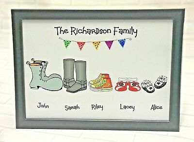 £4.99 • Buy  Birthday Gift Present 18th 21st 30th 40th 50th 60th 70th 80th Family Shoe Frame