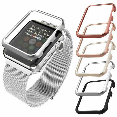 $ CDN8.02 • Buy For Apple Watch Series 5/4/3/2 Aluminum Bumper Case Protective Metal Frame Cover