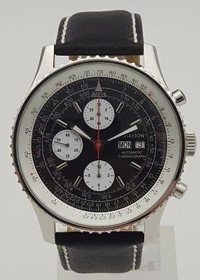 $499 • Buy Aviation Automatic Chronograph Watch Valjoux 7750 Movement Clone New Orig. Box