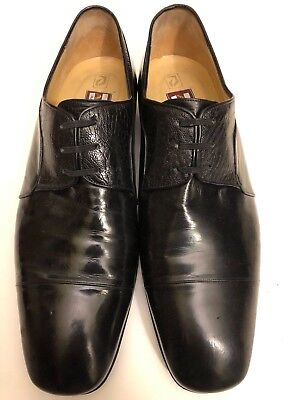 $ CDN119.14 • Buy Men Star Artioli Black Ostrich Leather Shoes Sz 10 W/ Salvatore Ferragamo Bag