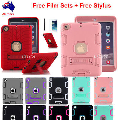 AU19.79 • Buy Shockproof Heavy Duty Rubber With Hard Stand Case Cover For IPad Air 2 IPad Mini