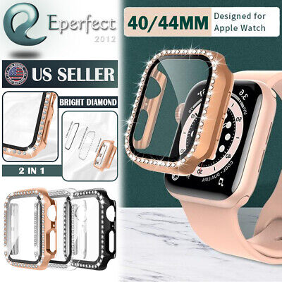 $ CDN7.62 • Buy For Apple Watch Series 3 4 5 6 SE 40 44MM 42MM Hard Bumper Case Screen Protector