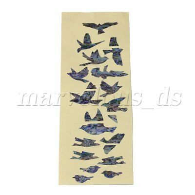 DIY Multicolor Birds Fretboard Markers Inlay Sticker Decal For Guitar Bass • 4.59£