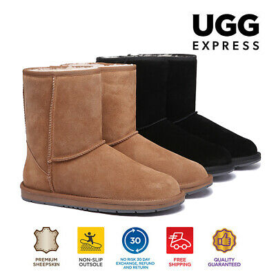 AU82 • Buy 【EXTRA17%OFF】UGG Boots Unisex Short Classic Water Resistant Sheepskin Boots