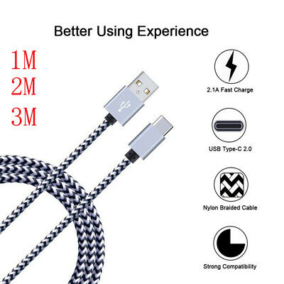 $ CDN3.99 • Buy For Samsung Galaxy Note 9 S9 A9 A8 2018 Nylon USB Type C FAST Sync Charger Cable