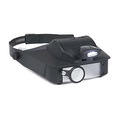 LumiVisor Head Magnifier - Head Visor With LED Lighted Magnifier (2x/3x/5x/6x) ( • 37.41£