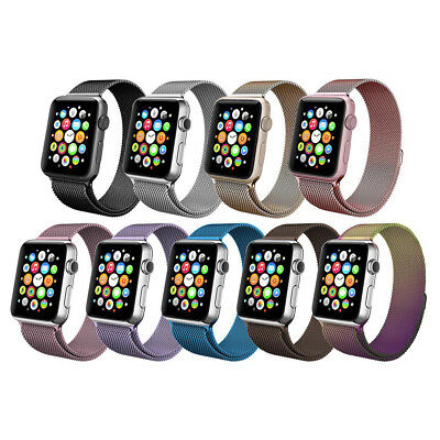 AU16.70 • Buy For Apple Watch Milanese Band Loop Magnetic Strap Stainless Steel 38/40/42/44mm