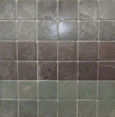 £35 • Buy Brazilian Slate Tumbled Tiles 100 X 100 X 10mm Choice Of Two Colours
