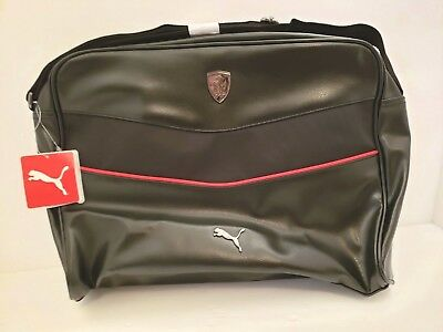 d6031067fd Puma Ferrari LS Reporter Pebbled Adjustable Strap Black Messenger Laptop Bag  • 69.89