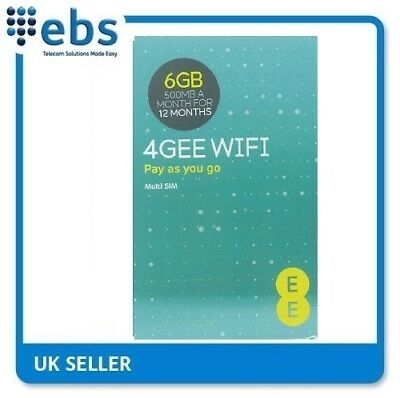 £26.75 • Buy EE 4G Data Only Sim Card Preloaded With 6GB-500MB A Month For 12 Months